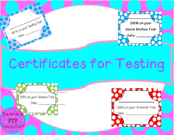 Certificates for Testing