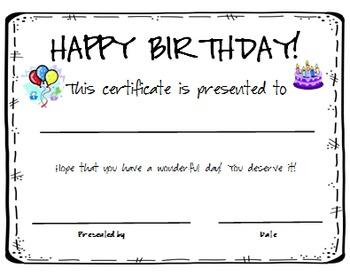 Class Certificates