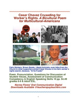 Cesar Chavez Crusading for Worker's Rights