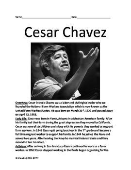 Cesar Chavez - Lesson Review Article - full history questi