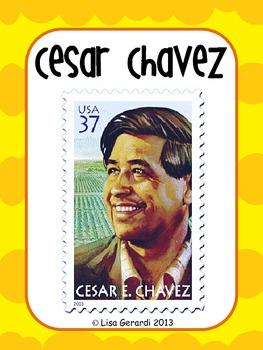 Cesar Chavez - Posters, Vocabulary, Vocabulary Organizer,