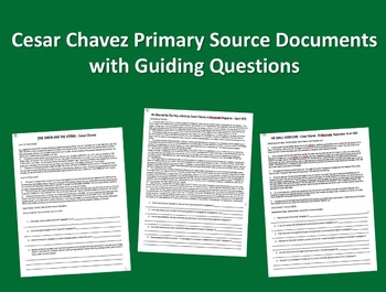 """Cesar Chavez Primary Source Document with guiding Qs # 3 """""""