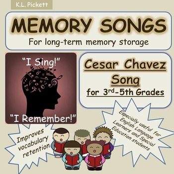 Cesar Chavez Song for Third to Fifth Grade Students