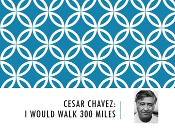 Cesar Chavez Writing Prompt