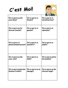C'est Moi French Description Interactive Game