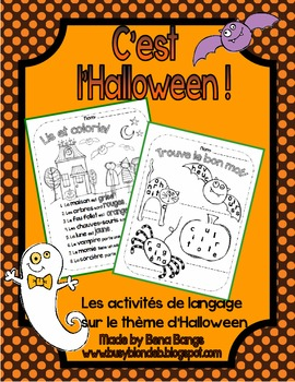 {C'est l'Halloween!} French LANGUAGE activities for French