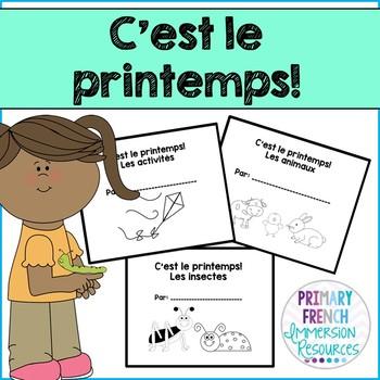 French spring / le printemps - 3 student mini books