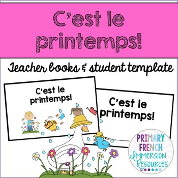 French spring / le printemps - Teacher book and student templates