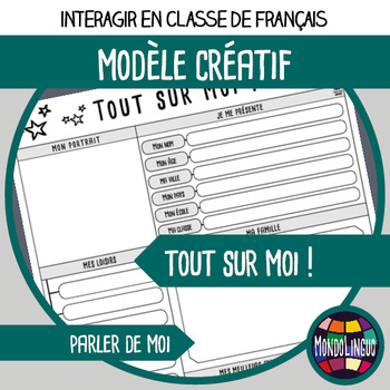 Printables to teach French/FFL/FSL: Tout sur moi/All about me