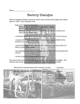 Ch 25 Hsitroy Alive 8th Grade - Factory Dialogue