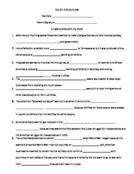 Ch. 4 - 5th Grade Social Studies Study Guide, Test & Essay
