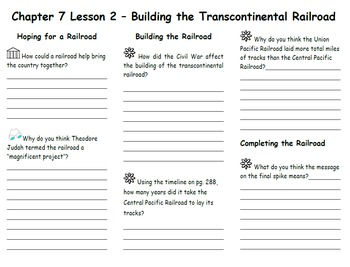 Ch. 7 Lesson 2 Building the Transcontinental Railroad