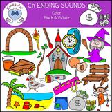 Ch Ending Sounds Clip Art
