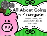 All About Coins for Kindergarten--Centers, Games, and an I