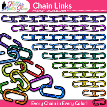 Chain Link Clip Art {Counting and Sorting Manipulatives fo