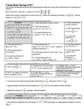 Chain Rule Spring 2013