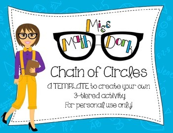 (Pi day) Chain of Circles: 3-tiered activity Template for