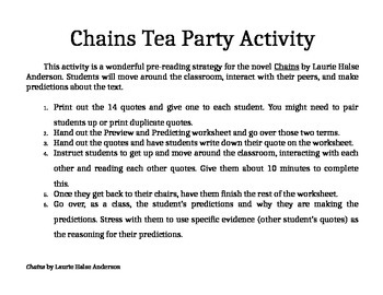 Chains Preview/Predicting Activity