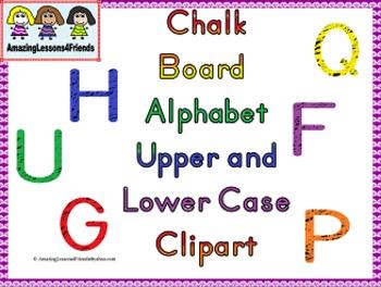 Chalk Board Alphabet Clipart