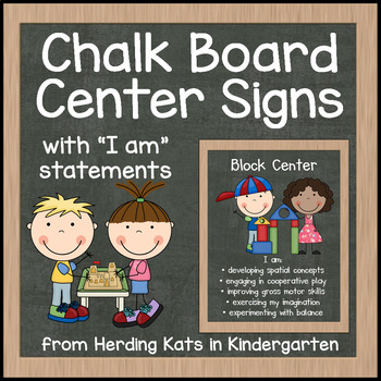 Chalk Board Center Signs