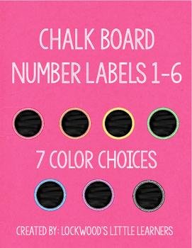 Chalk Board Number Labels