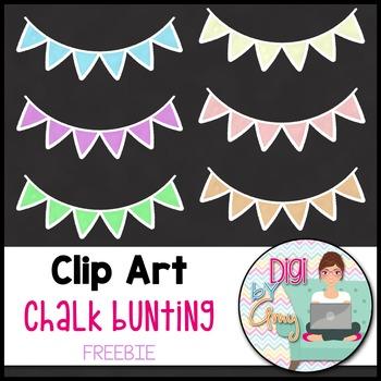 Chalk Bunting Clip Art - FREEBIE