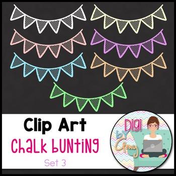 Chalk Bunting Clip Art - Set 3