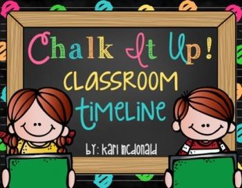 Chalk It Up! A Chalkboard Themed Classroom Timeline: A Tea