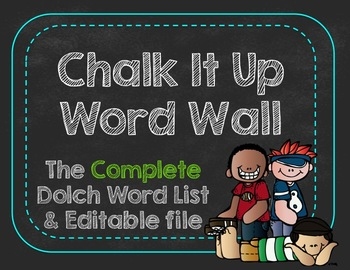 Chalk It Up Word Wall Cards