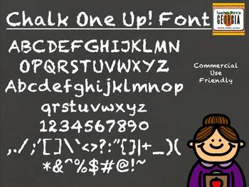 Chalk One Up! Commercial Use Chalkboard Font