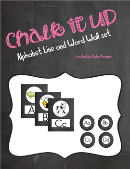 Chalk it Up! Chalkboard Alphabet Line and Word Wall Header Set