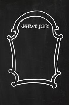 Chalkboard theme Classroom Sign for bulletin board