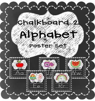 Chalkboard 2 A-Z Alphabet Poster Letter Sound Pack