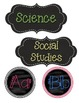 Chalkboard ABC headers and Subject Headers