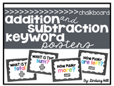 Chalkboard Addition & Subtraction Keyword Posters