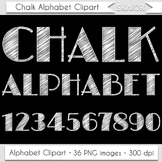 Chalkboard Alphabet Clipart Chalk Letters Numbers White Do