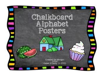 Chalkboard Alphabet Poster
