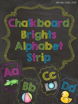 Chalkboard Alphabet Posters - Chalkboard Brights