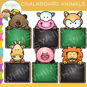Chalkboard Animals Clip Art