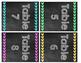 Chalkboard Arrow Themed Table Caddy Labels