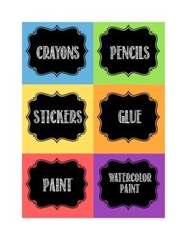 Chalkboard Art Labels