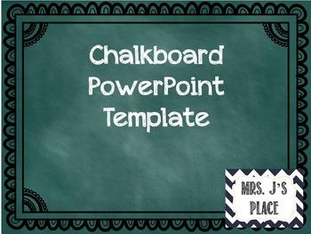 Chalkboard Background PowerPoint Template