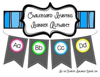 Chalkboard Banner Alphabet