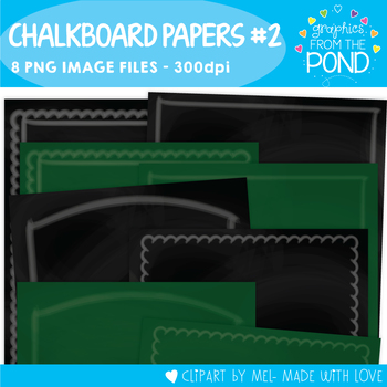Chalkboard / Blackboard Pages Set 2
