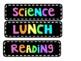 Chalkboard Bright Schedule Cards