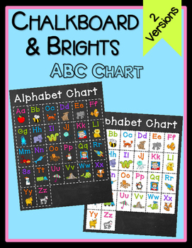 Chalkboard & Brights ABC Poster