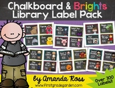 Chalkboard & Brights Classroom Library Label Pack {with Ma
