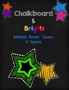 Chalkboard & Brights Editable Binder Covers & Spines
