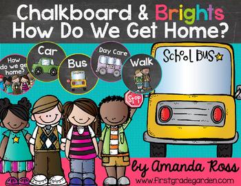 Chalkboard & Brights How Do We Get Home? {Transportation C