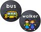 Chalkboard Brights Transportation Display